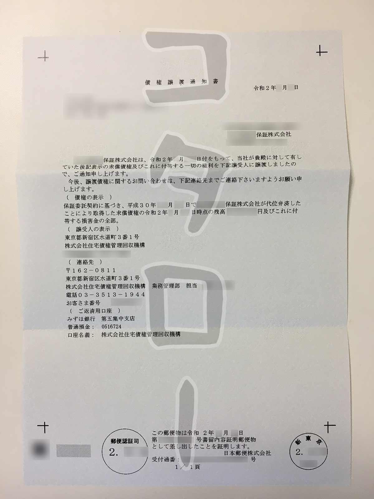 債権譲渡通知書保証会社-min